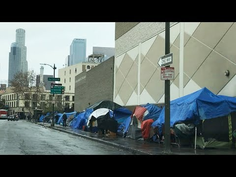 Skid Row, Downtown Los Angeles - Homeless Problem in America