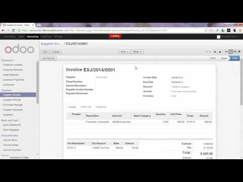 Accounting - Manage your Assets in Odoo