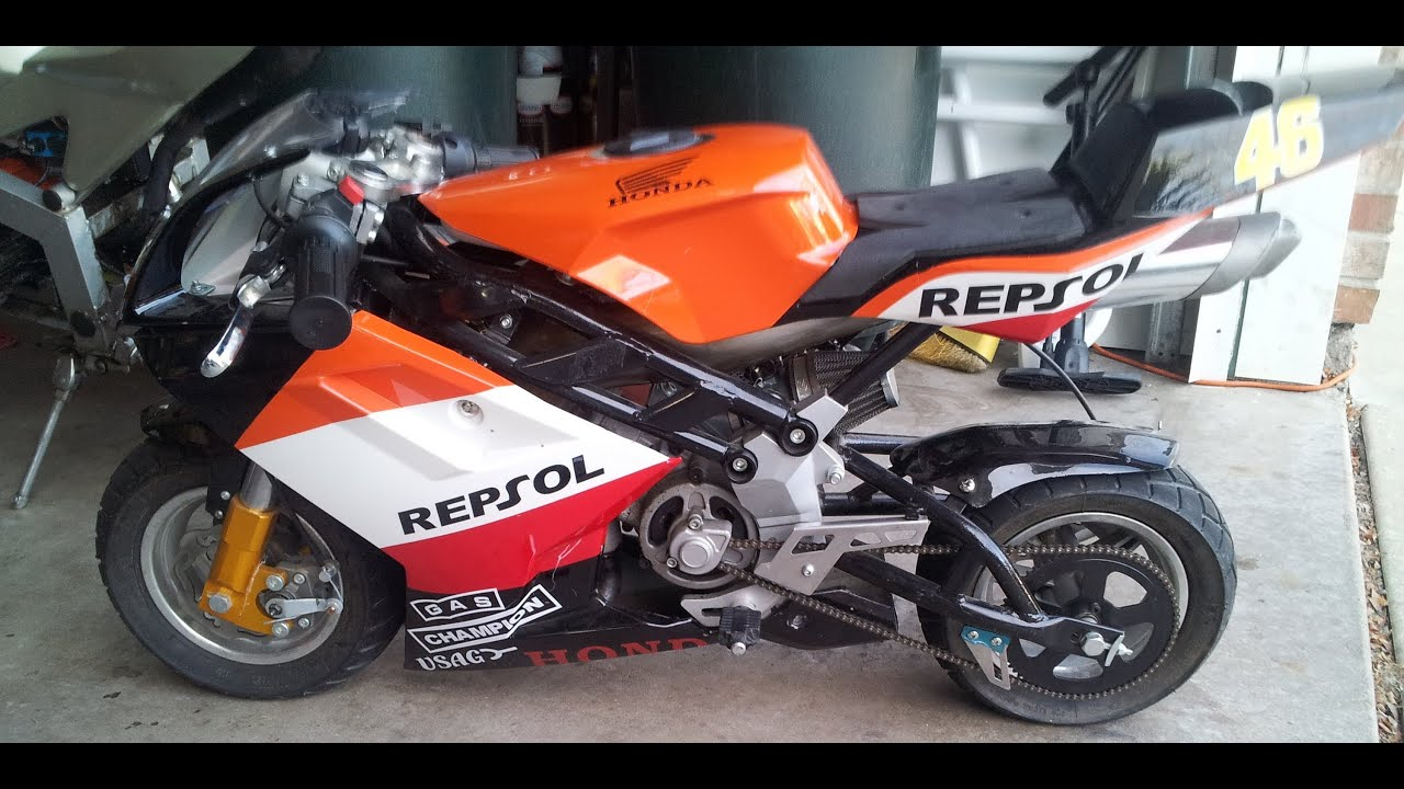 blata repsol racing pocket bike walk around youtube. Black Bedroom Furniture Sets. Home Design Ideas