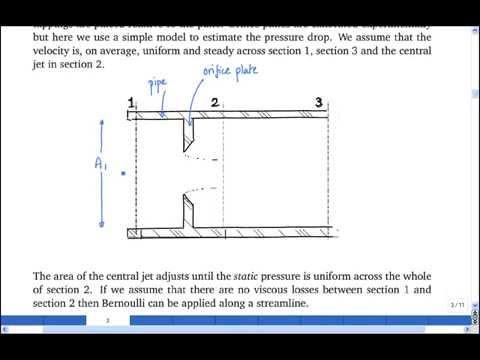 6.2 Total pressure loss across a horizontal orifice plate