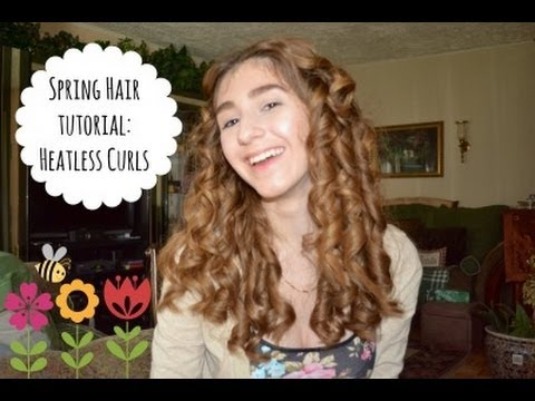 Spring/Summer Heatless Curls Tutorial 🌸 - YouTube