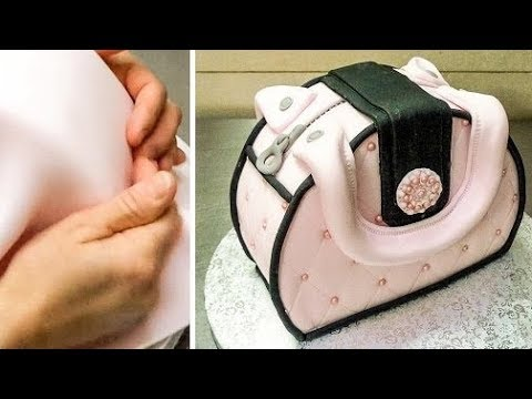 Cake Decorating Bag How To : Easy Purse Cake - How To Make by Cakes StepbyStep *Decorar ...