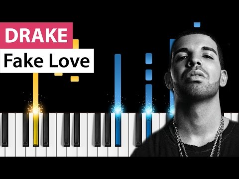 Drake - Fake Love - Piano Tutorial - How to play...