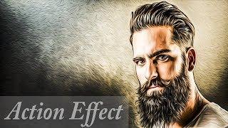 🔴Уроки Фотошоп. Создание Своего Action - 3D Арт эффект (Photoshop CC 2018)