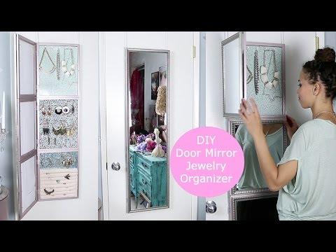 DIY Over Door Jewelry Display & Mirror!