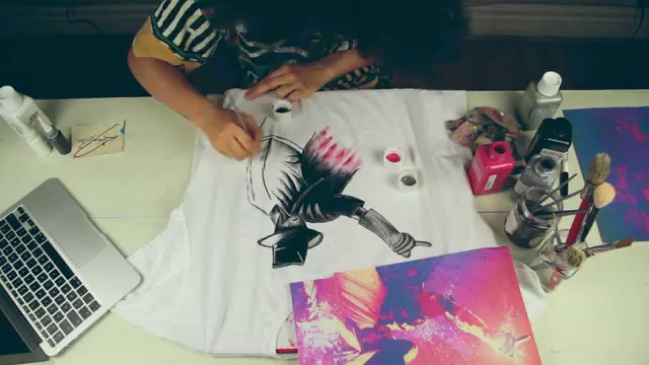 Diy Custom Hand Painted T Shirt By Jessica Valoise Ex Khacijay Mj You
