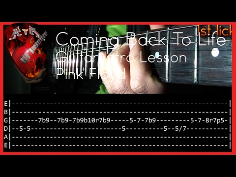 Coming Back To Life Guitar Intro Lesson - Pink Floyd (with Tabs)