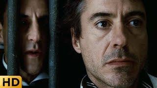 Разговор Холмса и Блэквуда в тюрьме. Шерлок Холмс 2009.