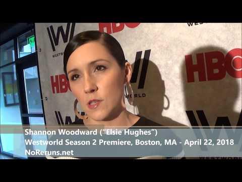 with WESTWORLD Star ShannonWoodward at the Boston Season 2 Premiere