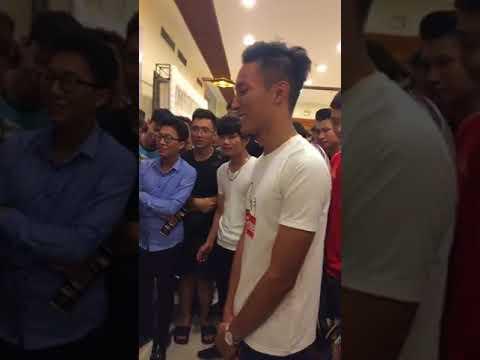 Lần đầu làm MC – Chung kết super league tại Hải Phòng