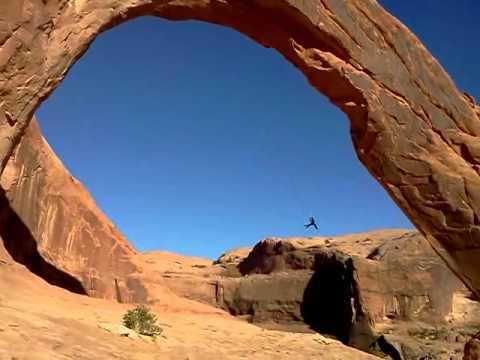 Corona Arch Moab Ut Insane Rope Swing 10 19 12 Youtube