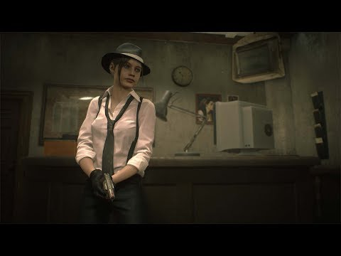 Resident Evil 2 Remake - Claire Redfield DLC - Noir Costume Trailer