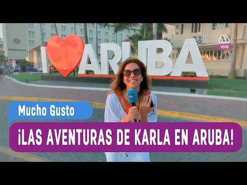Las aventuras de Karla Constant en Aruba - Mucho Gusto 2016