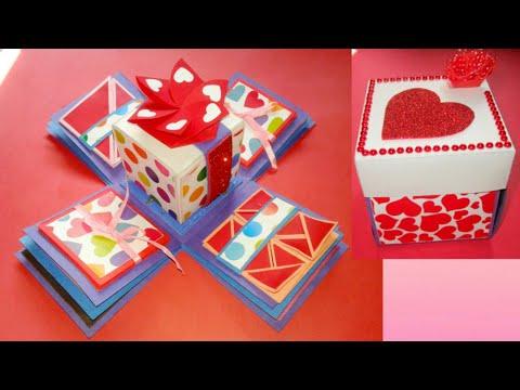 Gift idea/Explosion Box for friend/surprize box/birthday gift/Handmade Explosion box