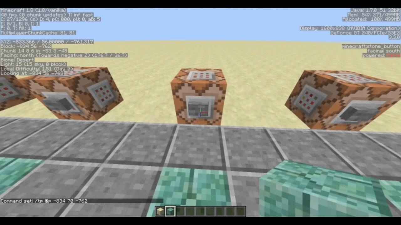 Minecraft Command Block Basic Teleporter Tutorial YouTube - Minecraft teleport player command block