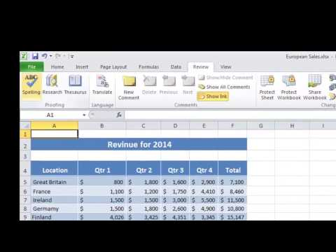 How to Spell-Check on Excel 2007 : Taking Advantage of Key MS Tools