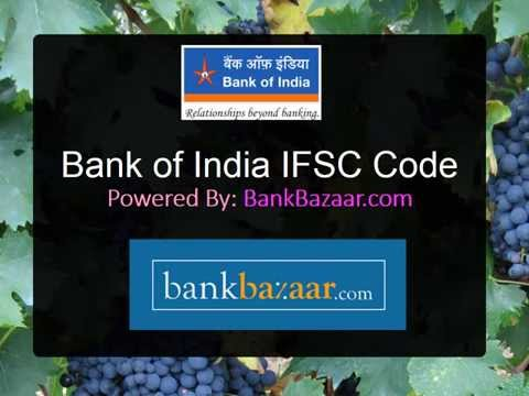 How to get Bank of India IFSC Code for Bangalore
