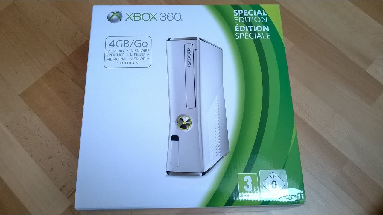 NEW Xbox 360 Slim 4GB (White/Weiß) *Special Edition ...