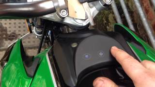 Lexmoto venom 125cc demo of dash and MP3 player.