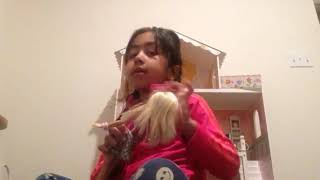 Richa play with Barbie doll