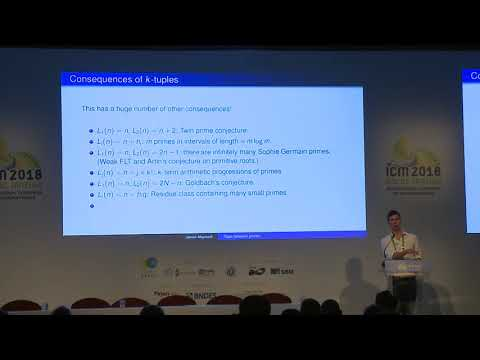 Gaps between primes – James Maynard – ICM2018