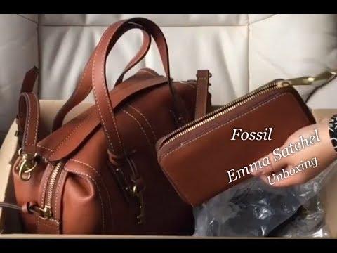 Fossil | Emma Satchel Bag | Emma RFID Smartphone Wristlet | Unboxing | #34