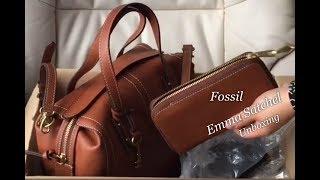Fossil   Emma Satchel Bag   Emma RFID Smartphone Wristlet   Unboxing   #34