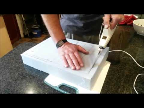 How to cut foam rubber with elec carving knife