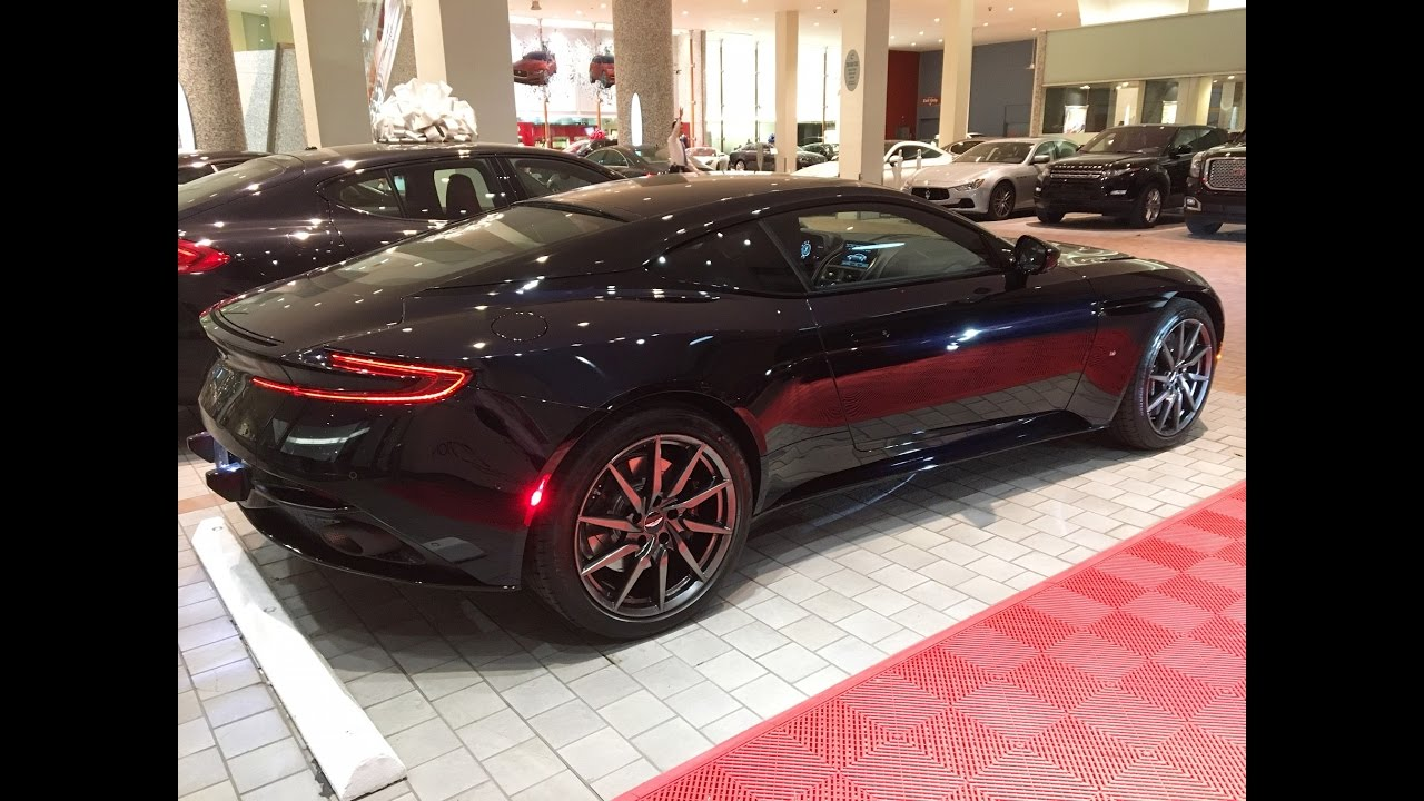 Jet Black Aston Martin >> Aston Martin DB11 black 2017 exhaust sound - YouTube