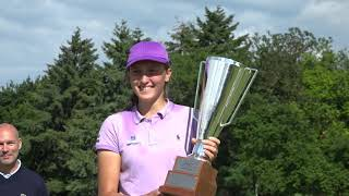 Pia Babnik holds her nerve on a playoff hole to win the 2021 Jabra Ladies Open