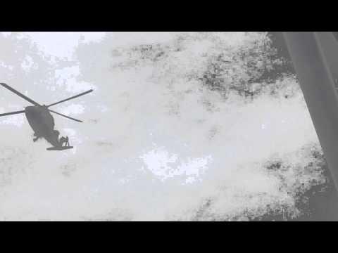 Helicopter landing at Saipem 7000