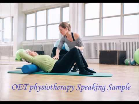 OET Physiotherapy speaking sample