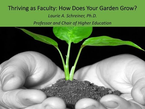 Thriving as a Faculty Member - Laurie Schreiner