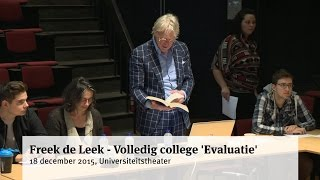 Freek de Leek - Volledig college 'Evaluatie'