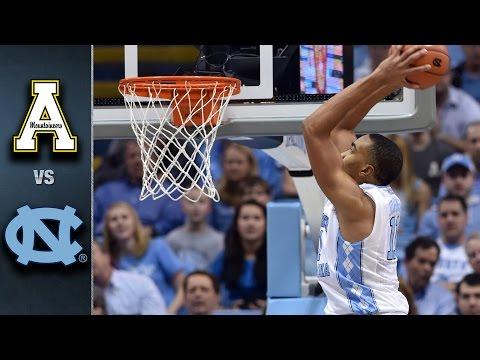 North Carolina vs. Appalachian State Basketball Highlights (2015-16)