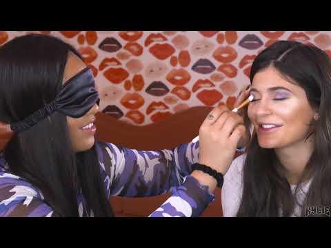 Blindfolded Makeup Challenge | Jordyn Does Kylie's Makeup While Blindfolded