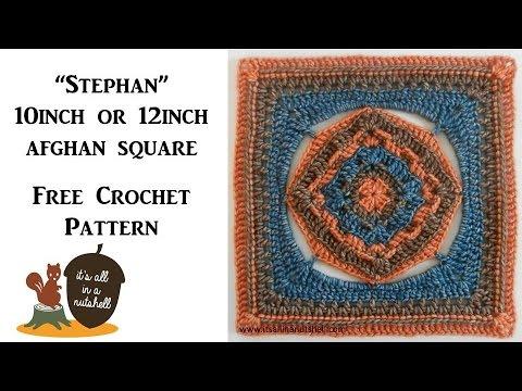 """Stephan"" afghan square - Free Crochet Pattern"