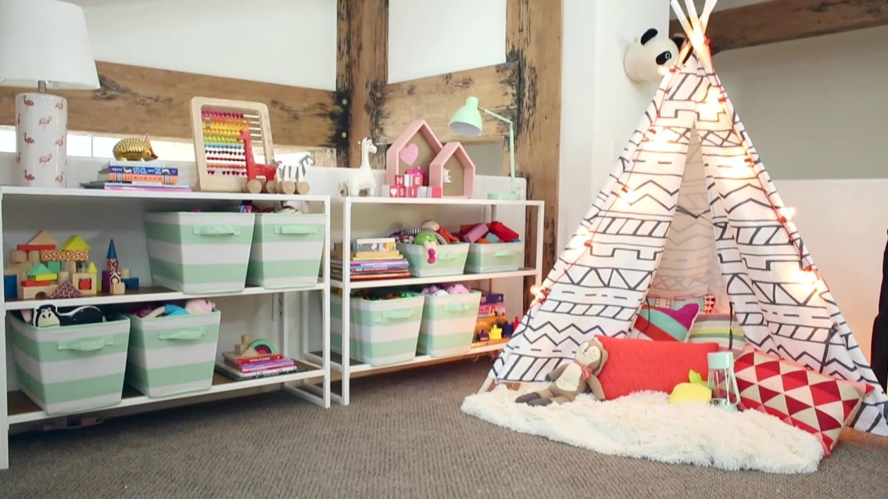 playroom makeover with pillowfort - emily henderson