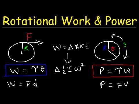 Rotational Power, Work, Energy, Torque & Moment of Inertia - Physics Problems