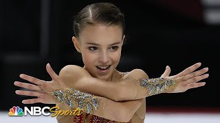 Shcherbakova pulls off costume change in winning free skate | NBC Sports
