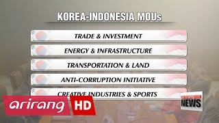 S. Korea, Indonesia agree on cooperative deals at summit
