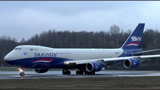 Silkway West Boeing 747-8F VQ-BBH at Luxembourg Airport