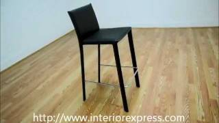 Interiorexpress Crawford Brown Leather Counter Height 24 Bar Stool