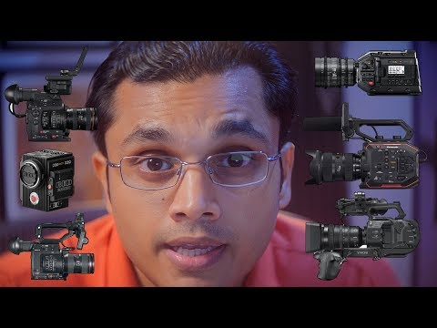 URSA Mini Pro 4.6K vs Canon C200 vs Panasonic AU-EVA1 vs FS7 Mark II vs C300 Mark II vs Red Raven