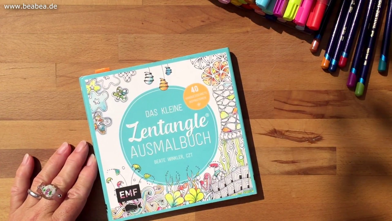 The little Zentangle® Coloring Book. Das kleine Zentangle Ausmalbuch by  Beate Winkler