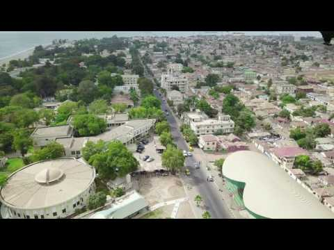 BEAUTIFUL BANJUL DRONE SHOT THE GAMBIA