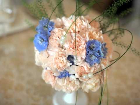 Бело-голубая свадьба