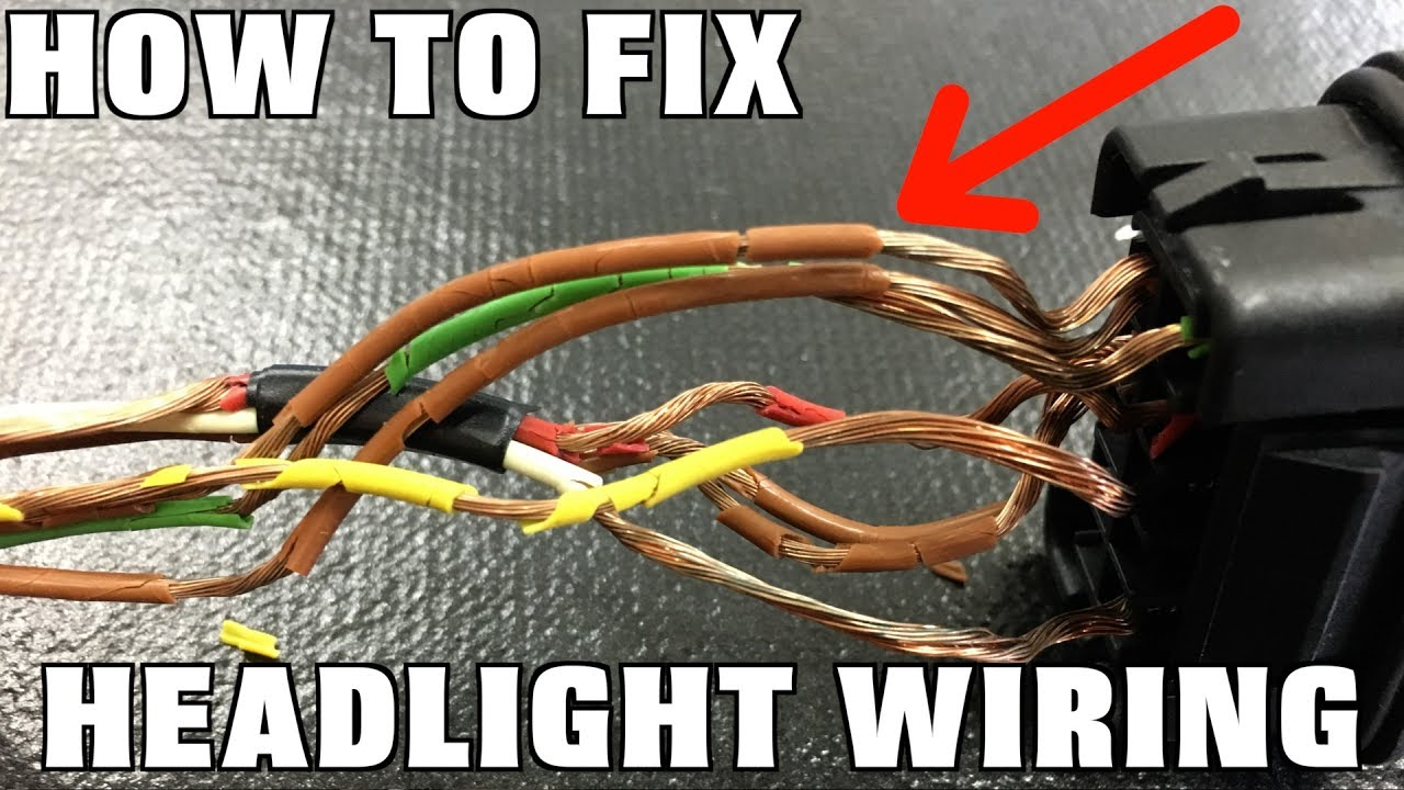How To Replace Headlight Wiring Youtube Mercedes Loom Repair