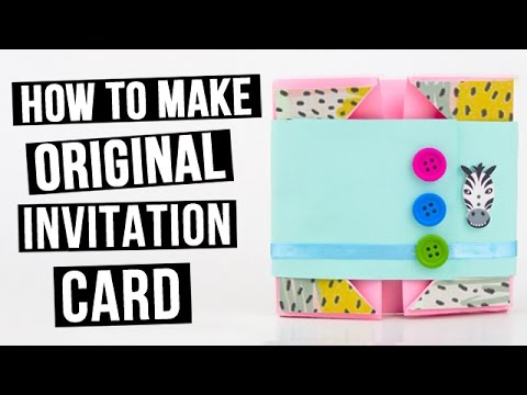 How to Make Original Invitation Card YouTube – Make Invitation Card