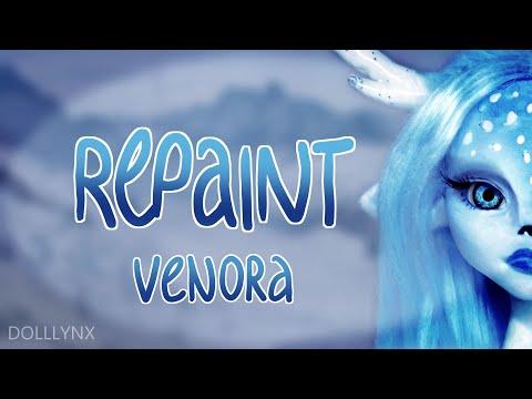 SPECIAL CHRISTMAS COLLAB REPAINT || Custom OOAK Doll || Venora